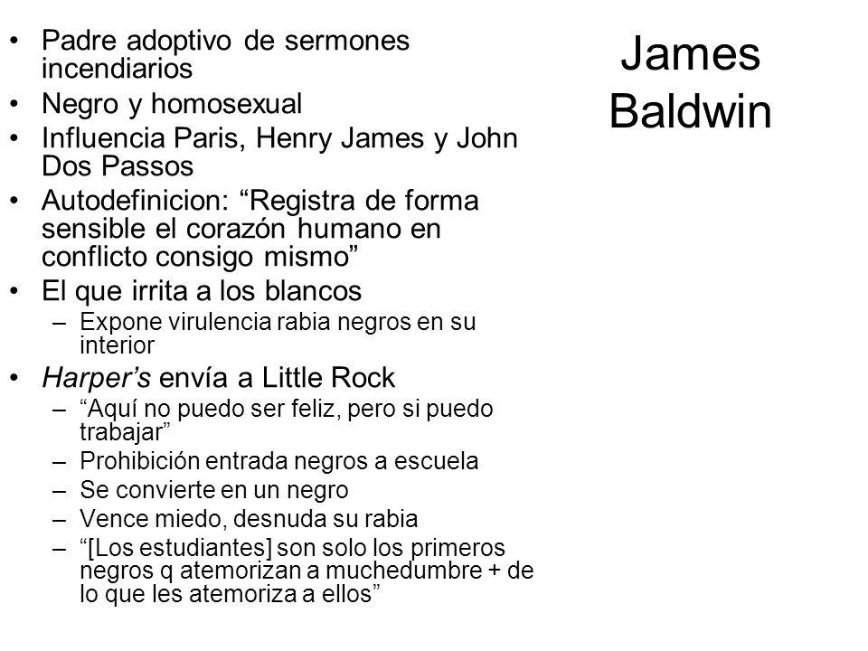 James Baldwin Padre adoptivo de sermones incendiarios