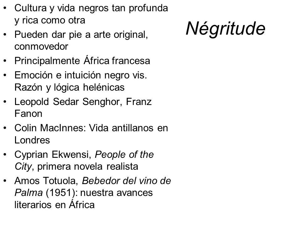 Négritude Cultura y vida negros tan profunda y rica como otra