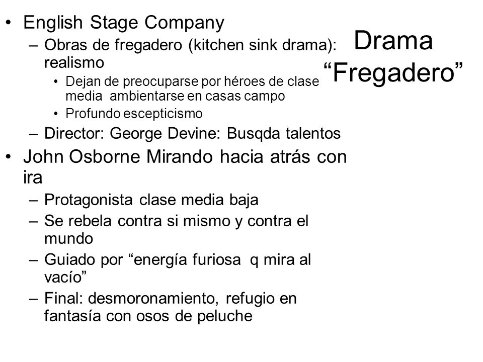 Drama Fregadero English Stage Company