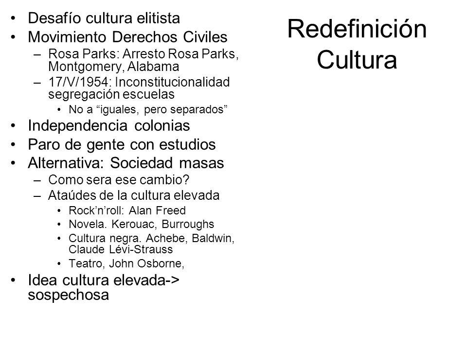 Redefinición Cultura Desafío cultura elitista