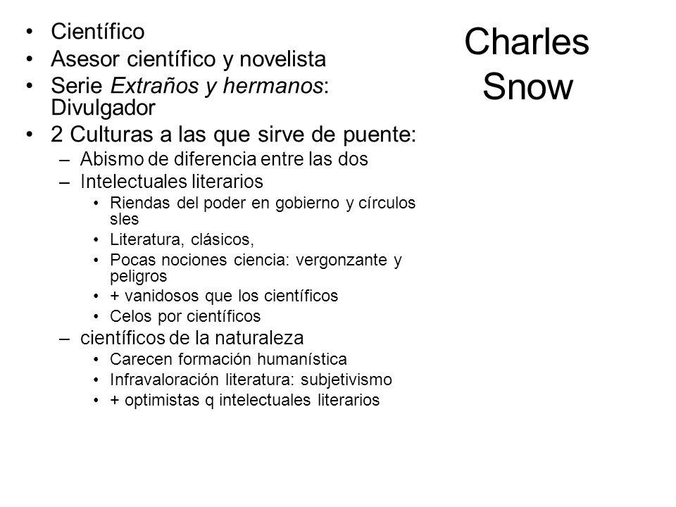 Charles Snow Científico Asesor científico y novelista