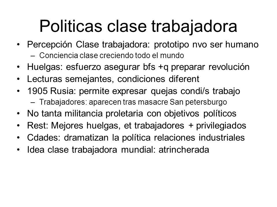 Politicas clase trabajadora