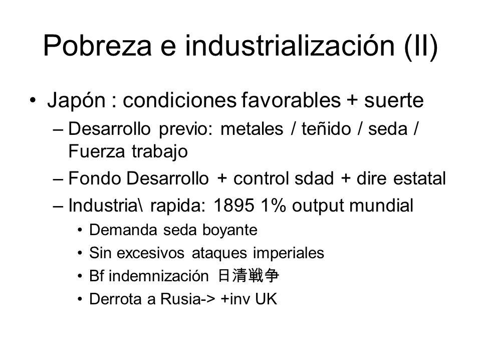 Pobreza e industrialización (II)