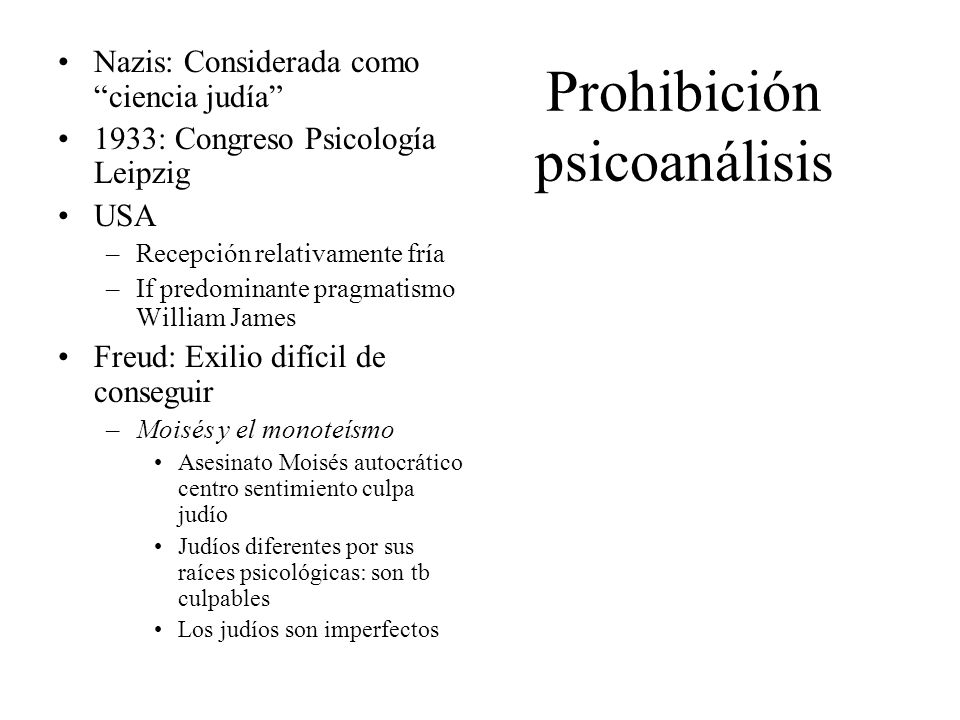Prohibición psicoanálisis