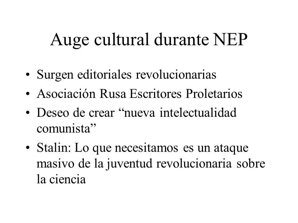 Auge cultural durante NEP