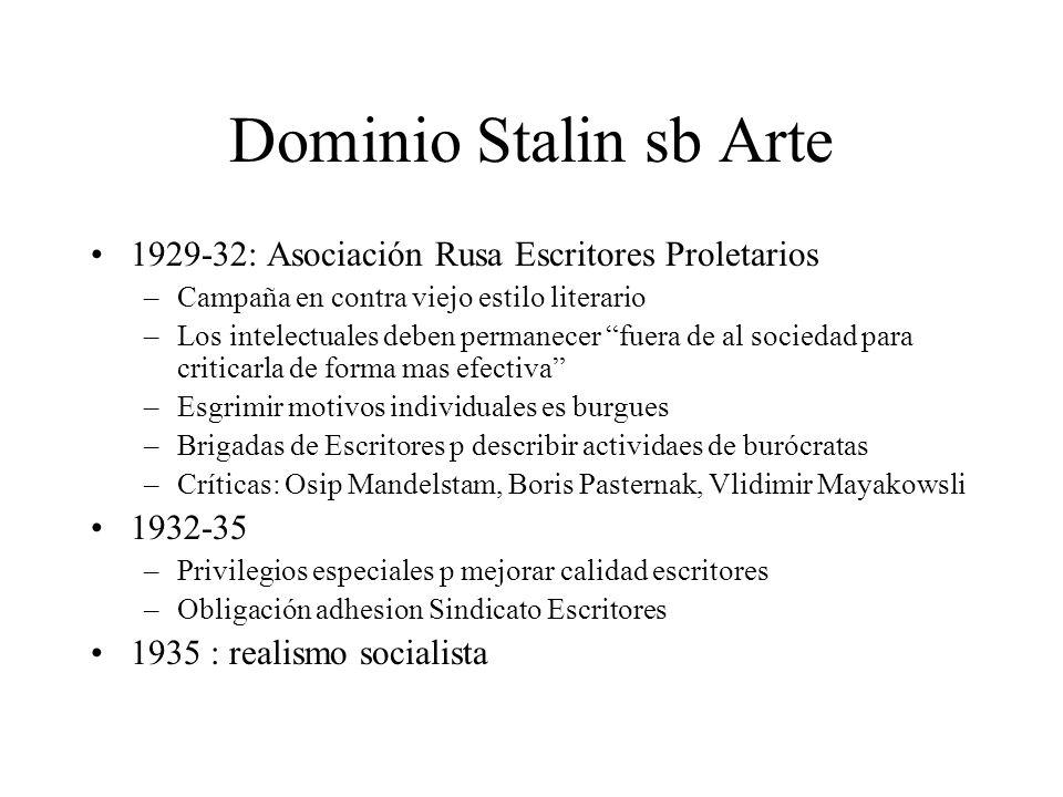 Dominio Stalin sb Arte 1929-32: Asociación Rusa Escritores Proletarios