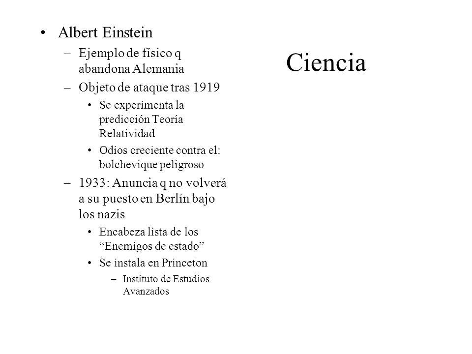 Ciencia Albert Einstein Ejemplo de físico q abandona Alemania