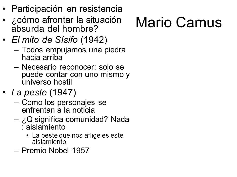 Mario Camus Participación en resistencia