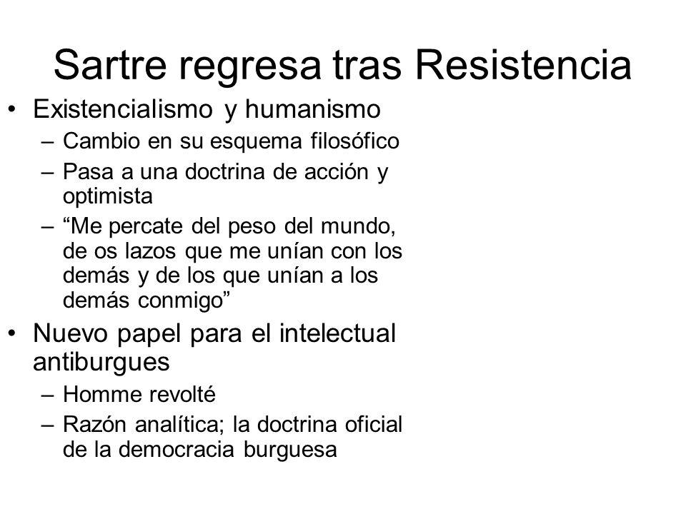 Sartre regresa tras Resistencia