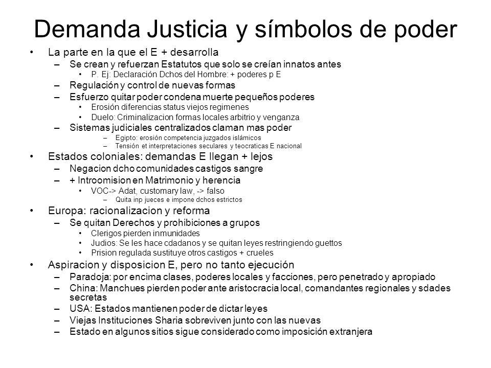 Demanda Justicia y símbolos de poder