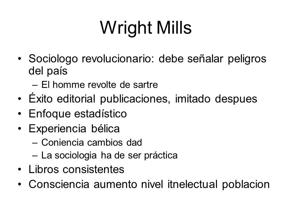 Wright Mills Sociologo revolucionario: debe señalar peligros del país
