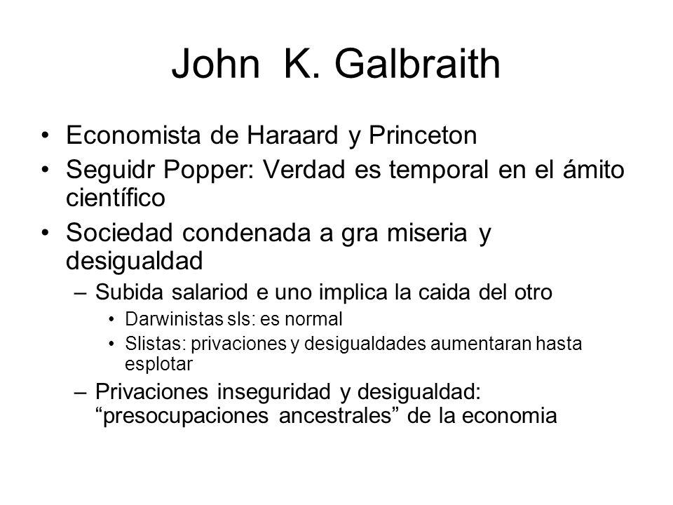 John K. Galbraith Economista de Haraard y Princeton