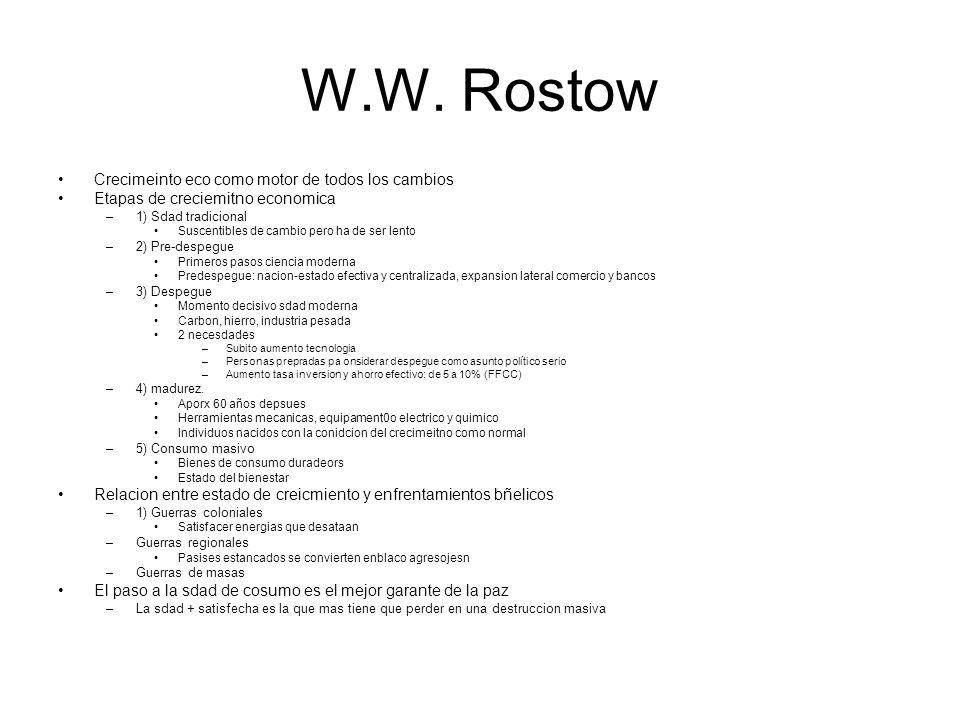 W.W. Rostow Crecimeinto eco como motor de todos los cambios