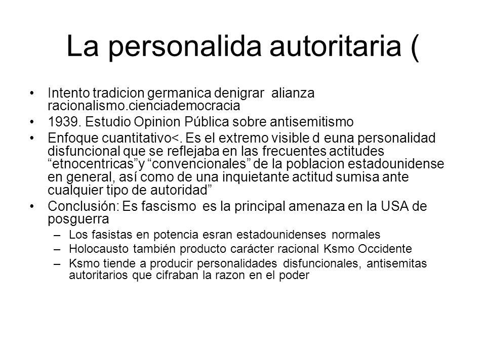 La personalida autoritaria (
