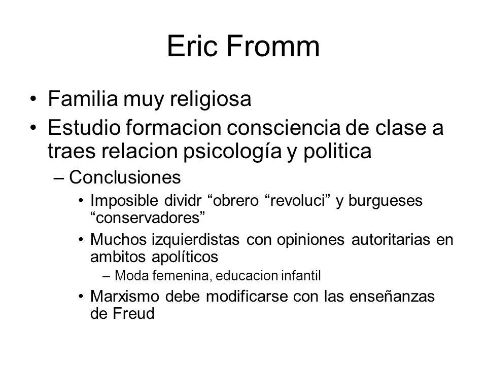 Eric Fromm Familia muy religiosa