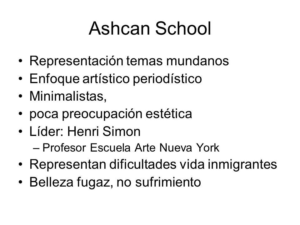 Ashcan School Representación temas mundanos
