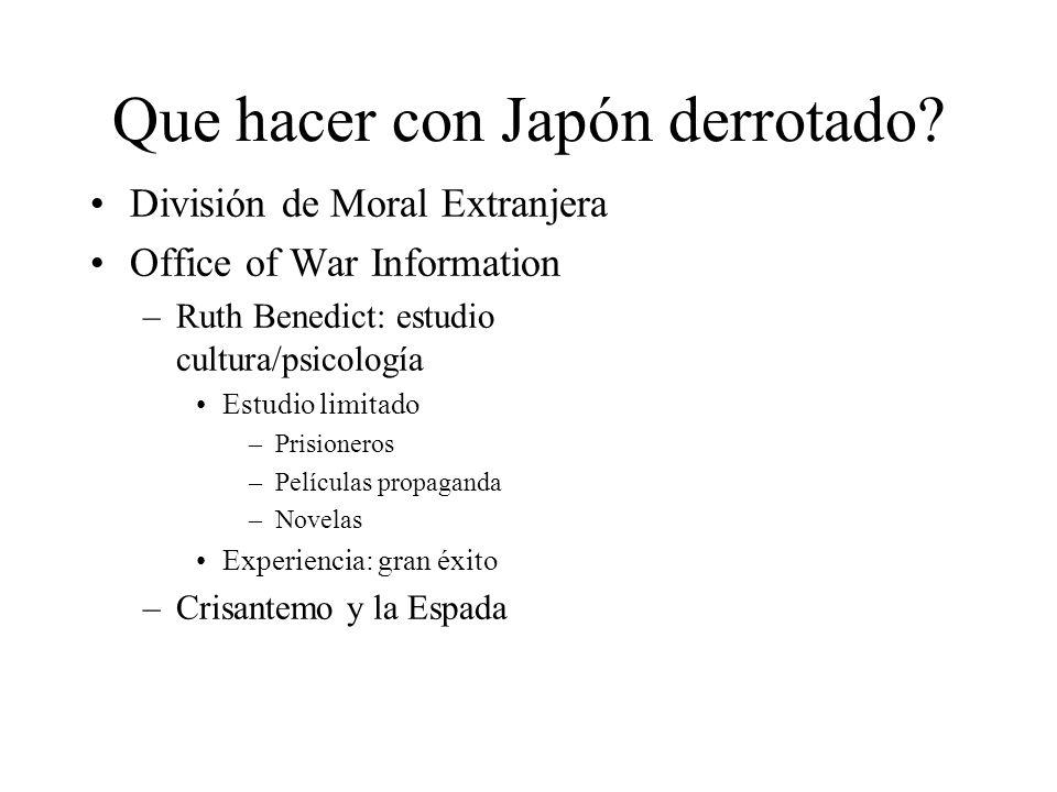 Que hacer con Japón derrotado