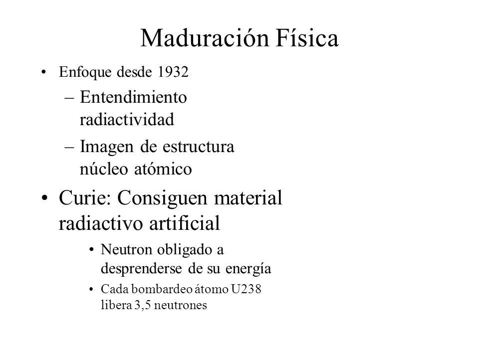 Maduración Física Curie: Consiguen material radiactivo artificial
