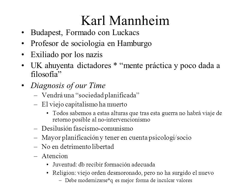Karl Mannheim Budapest, Formado con Luckacs