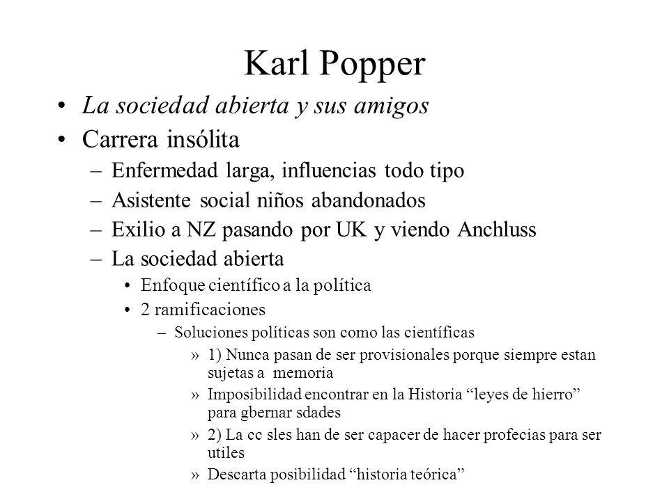 Karl Popper La sociedad abierta y sus amigos Carrera insólita