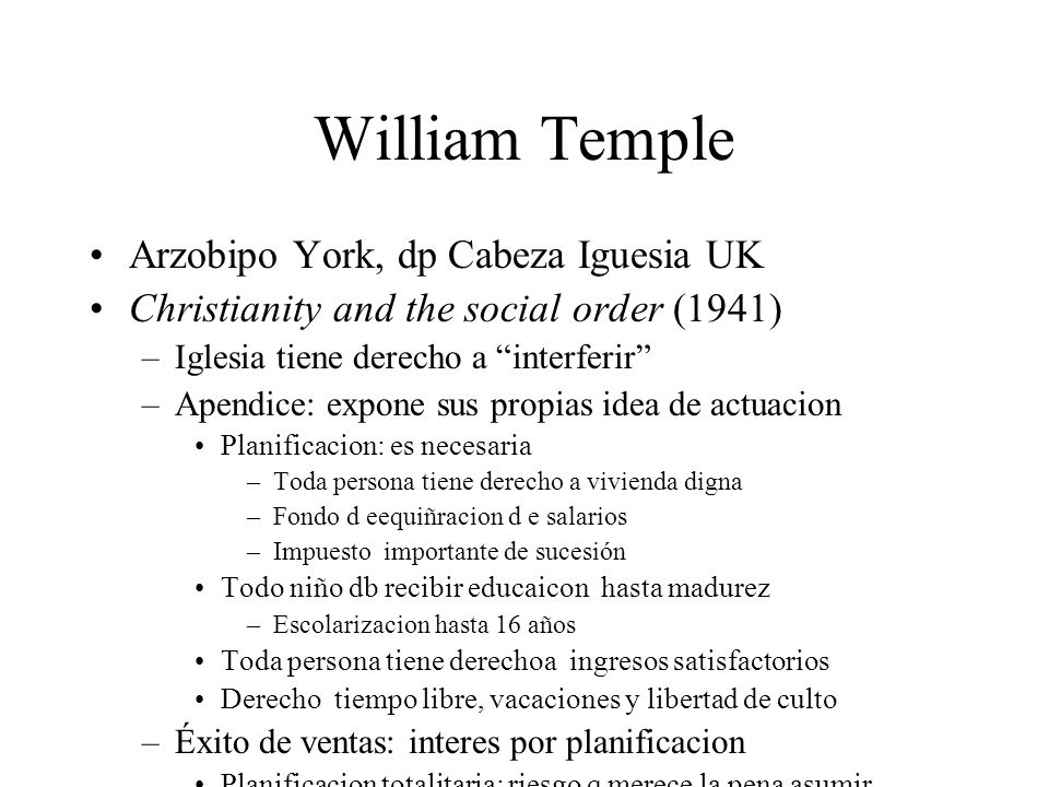 William Temple Arzobipo York, dp Cabeza Iguesia UK