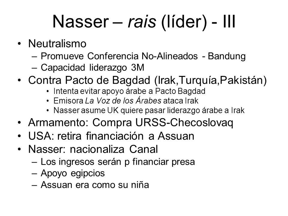 Nasser – rais (líder) - III