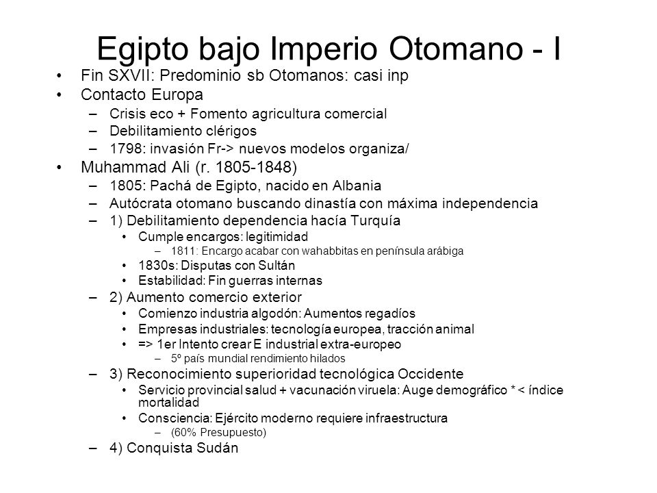 Egipto bajo Imperio Otomano - I