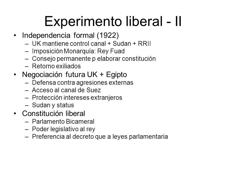 Experimento liberal - II