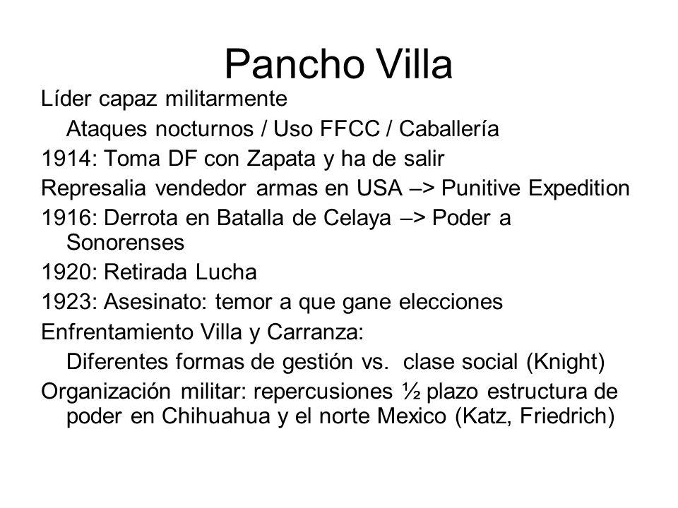 Pancho Villa Líder capaz militarmente