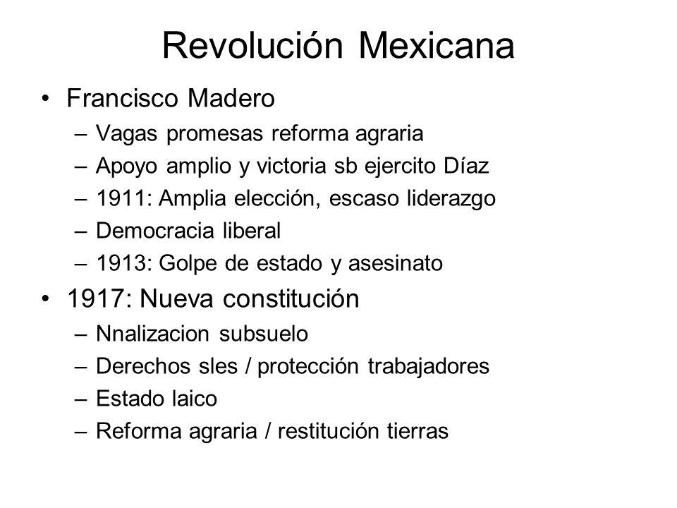 Revolución Mexicana Francisco Madero 1917: Nueva constitución