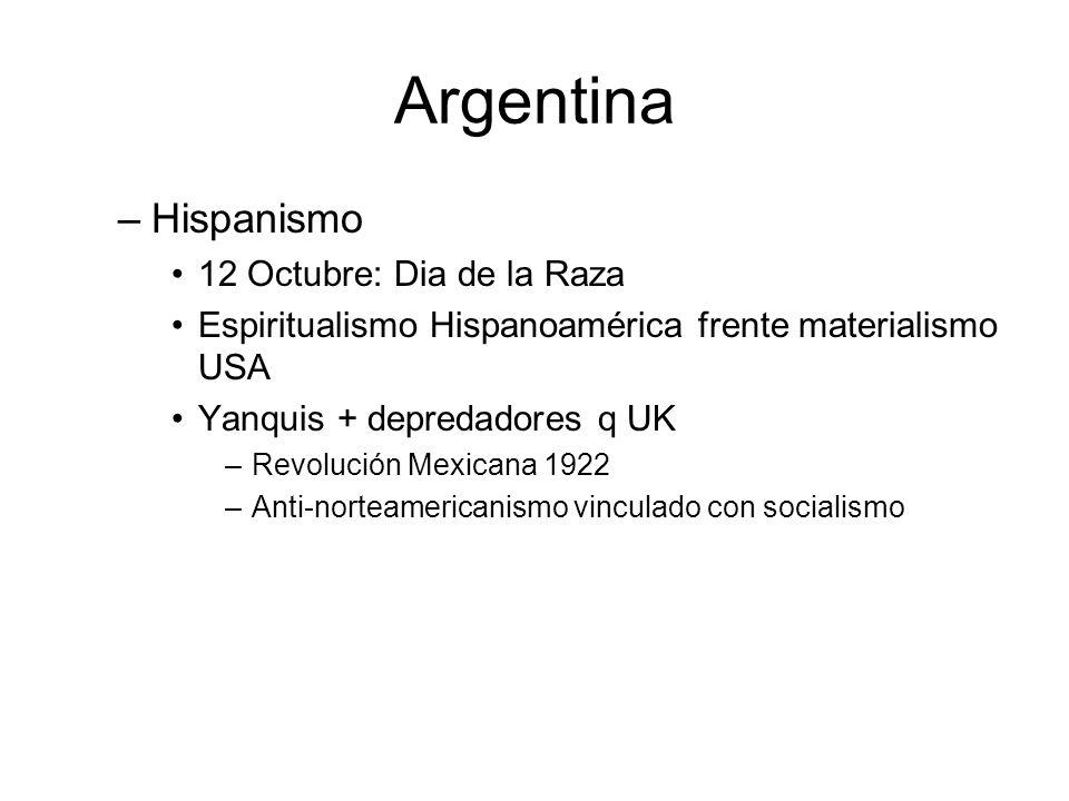 Argentina Hispanismo 12 Octubre: Dia de la Raza