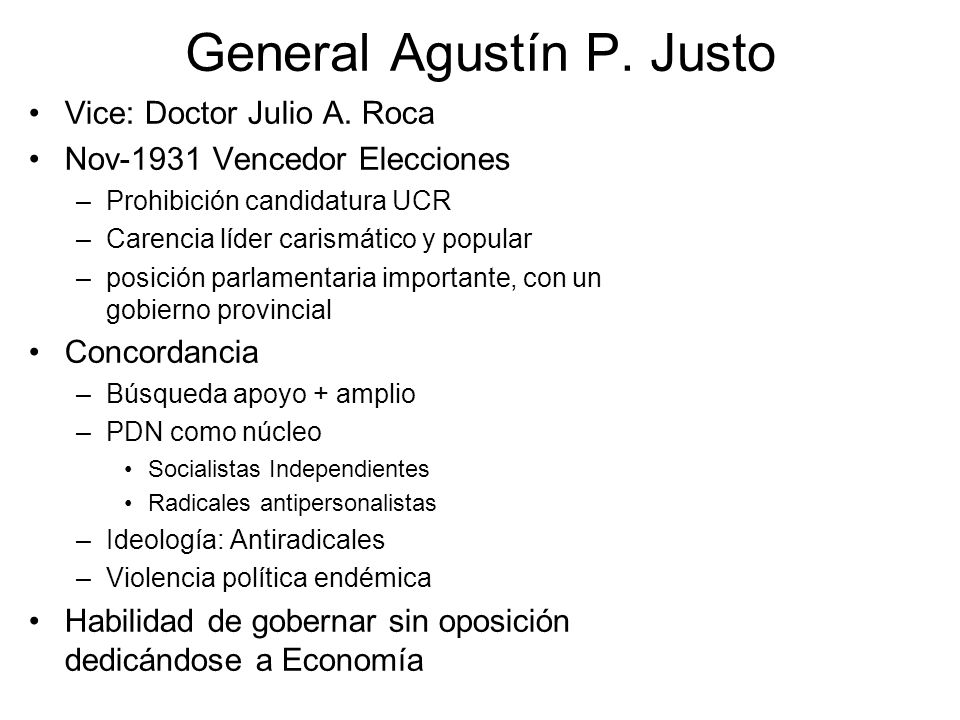 General Agustín P. Justo