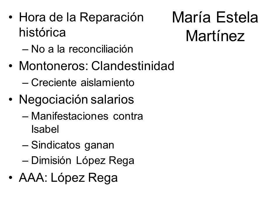 María Estela Martínez Hora de la Reparación histórica