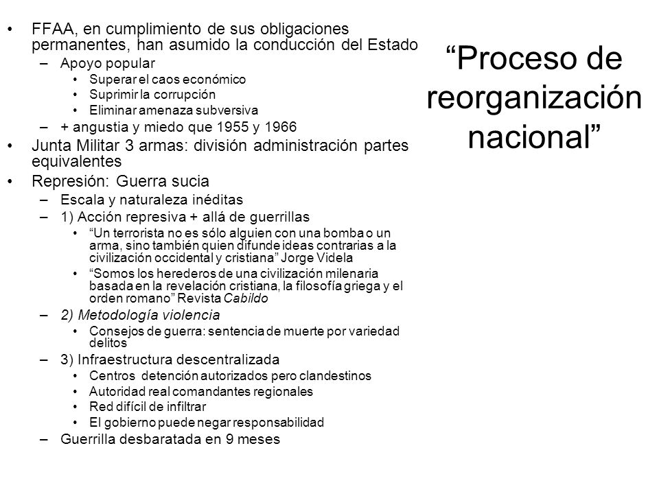 Proceso de reorganización nacional