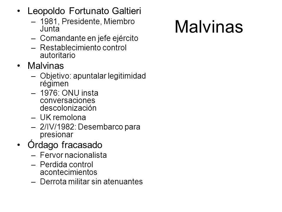 Malvinas Leopoldo Fortunato Galtieri Malvinas Órdago fracasado