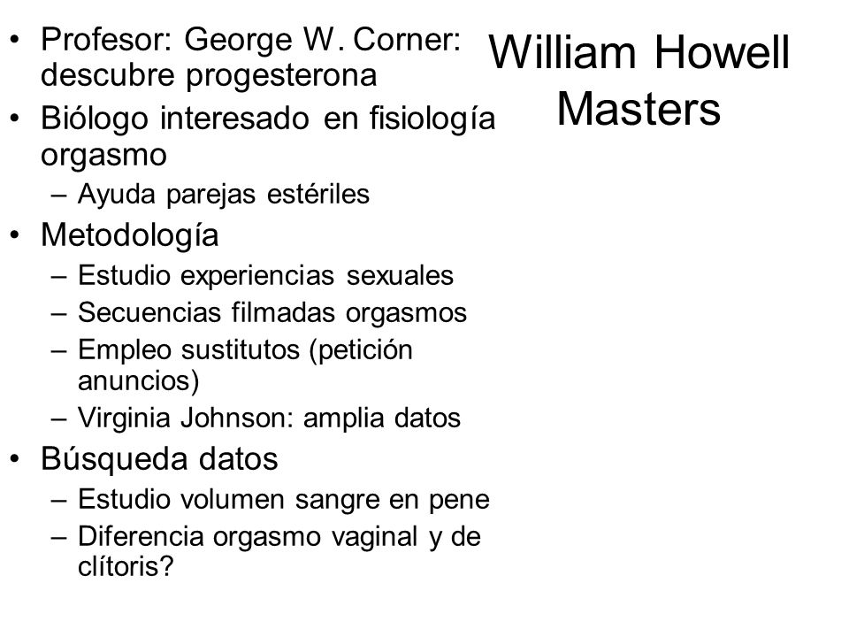William Howell Masters