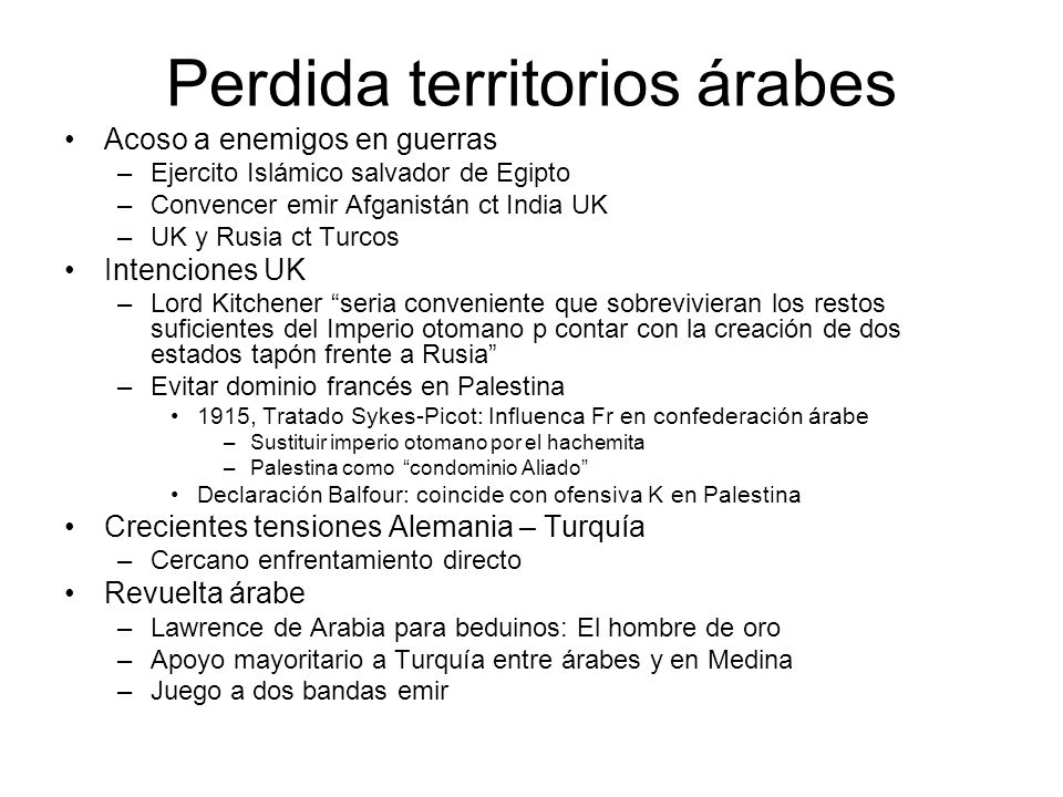 Perdida territorios árabes