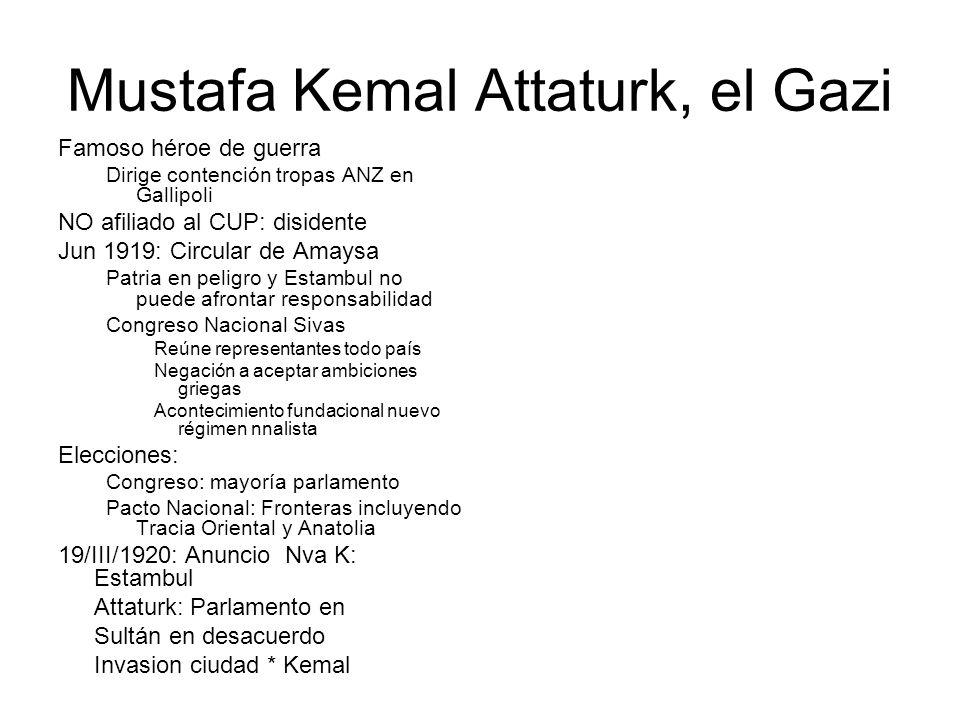 Mustafa Kemal Attaturk, el Gazi