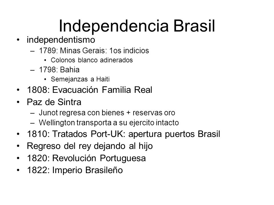 Independencia Brasil independentismo 1808: Evacuación Familia Real
