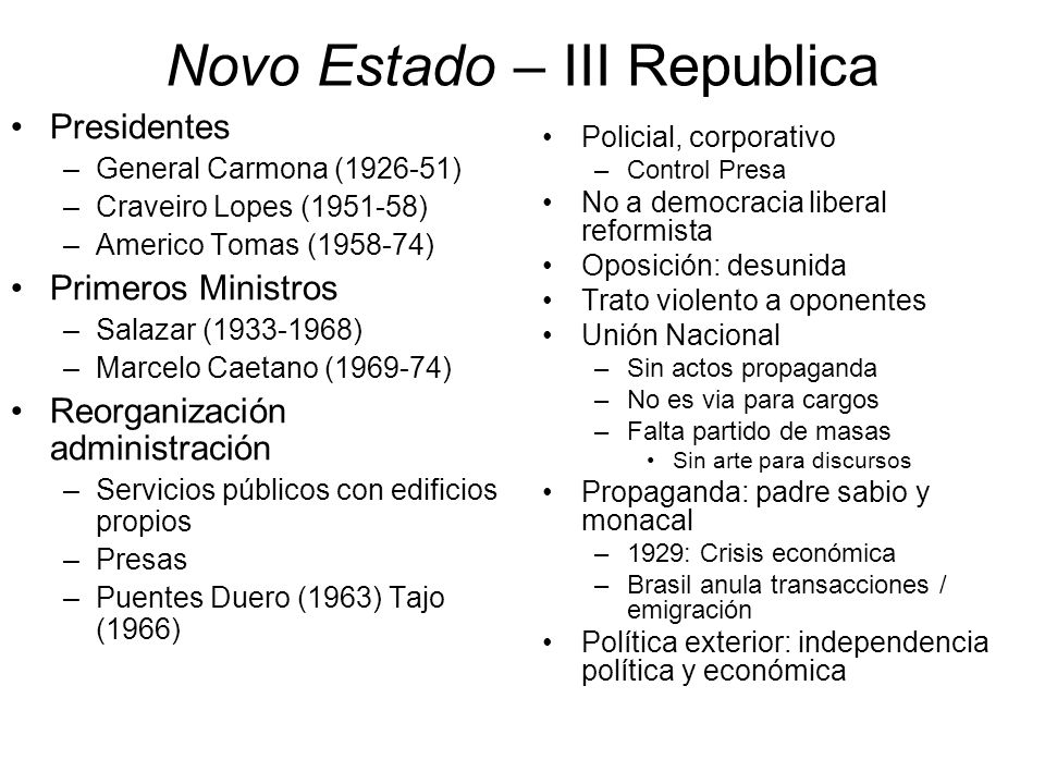 Novo Estado – III Republica