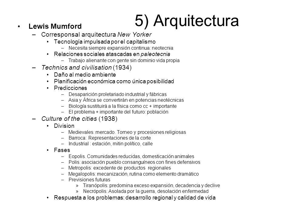 5) Arquitectura Lewis Mumford Corresponsal arquitectura New Yorker