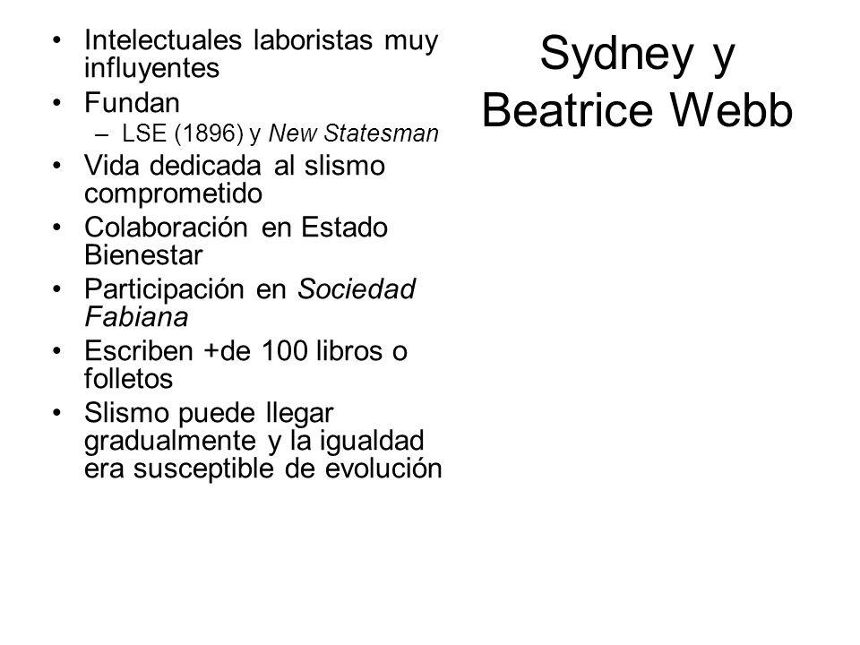 Sydney y Beatrice Webb Intelectuales laboristas muy influyentes Fundan