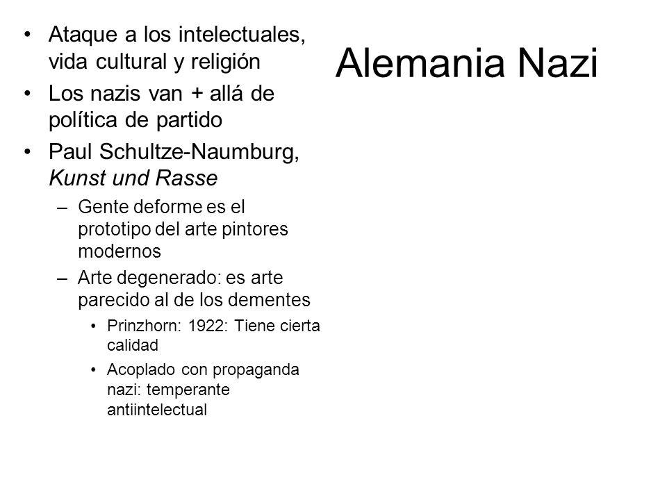 Alemania Nazi Ataque a los intelectuales, vida cultural y religión