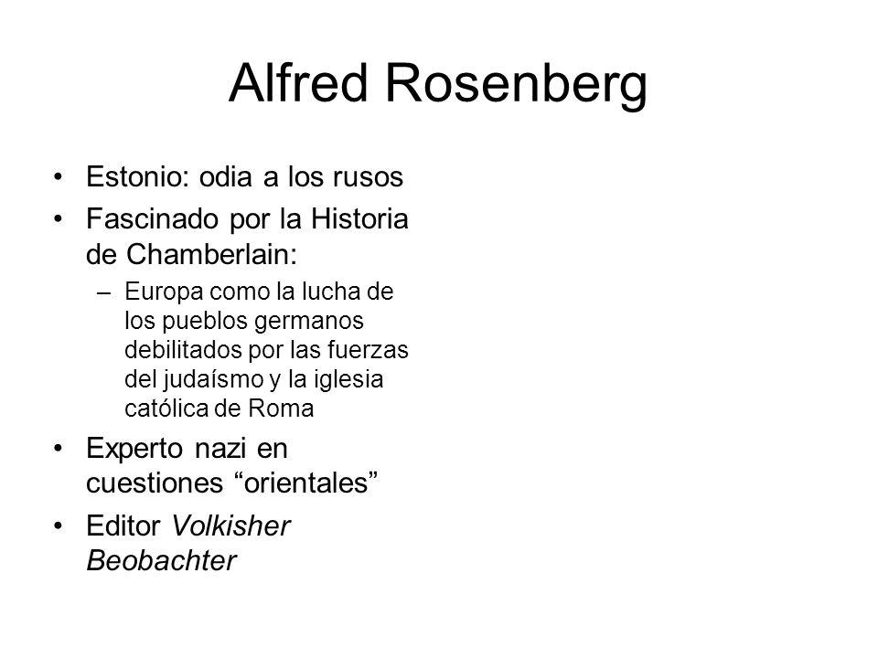 Alfred Rosenberg Estonio: odia a los rusos