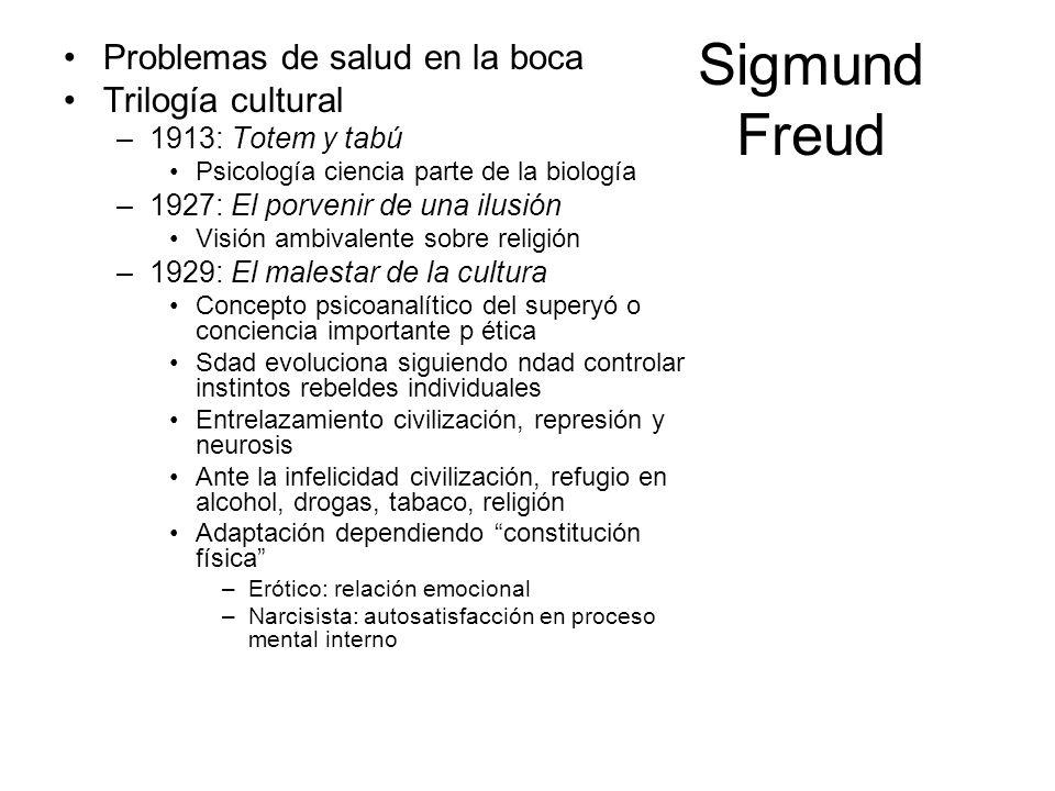 Sigmund Freud Problemas de salud en la boca Trilogía cultural