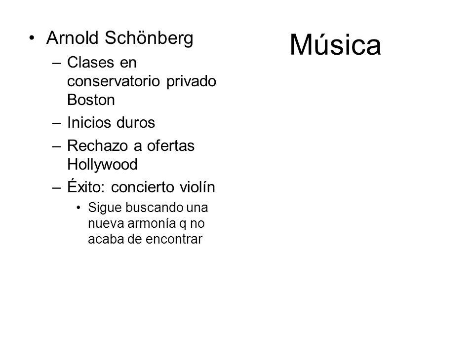 Música Arnold Schönberg Clases en conservatorio privado Boston