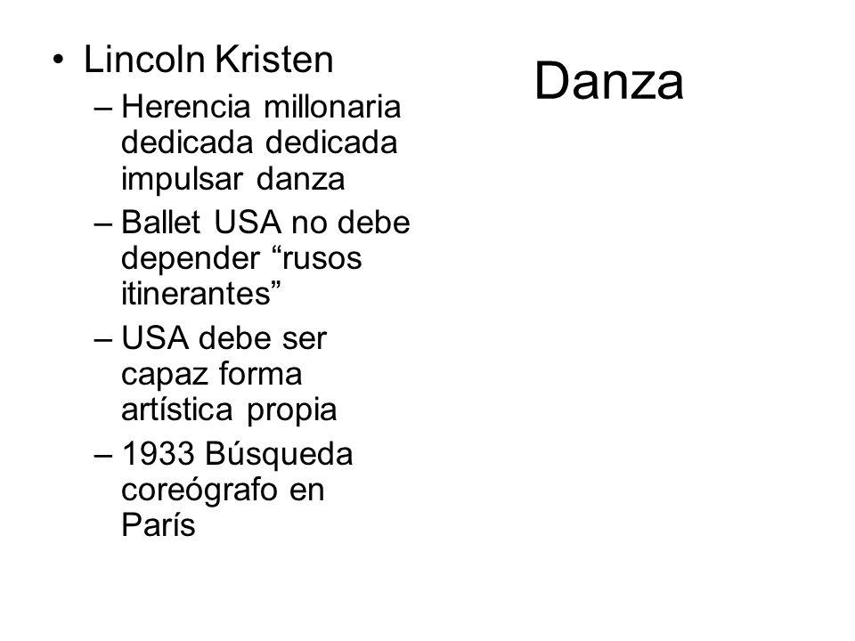 Danza Lincoln Kristen. Herencia millonaria dedicada dedicada impulsar danza. Ballet USA no debe depender rusos itinerantes