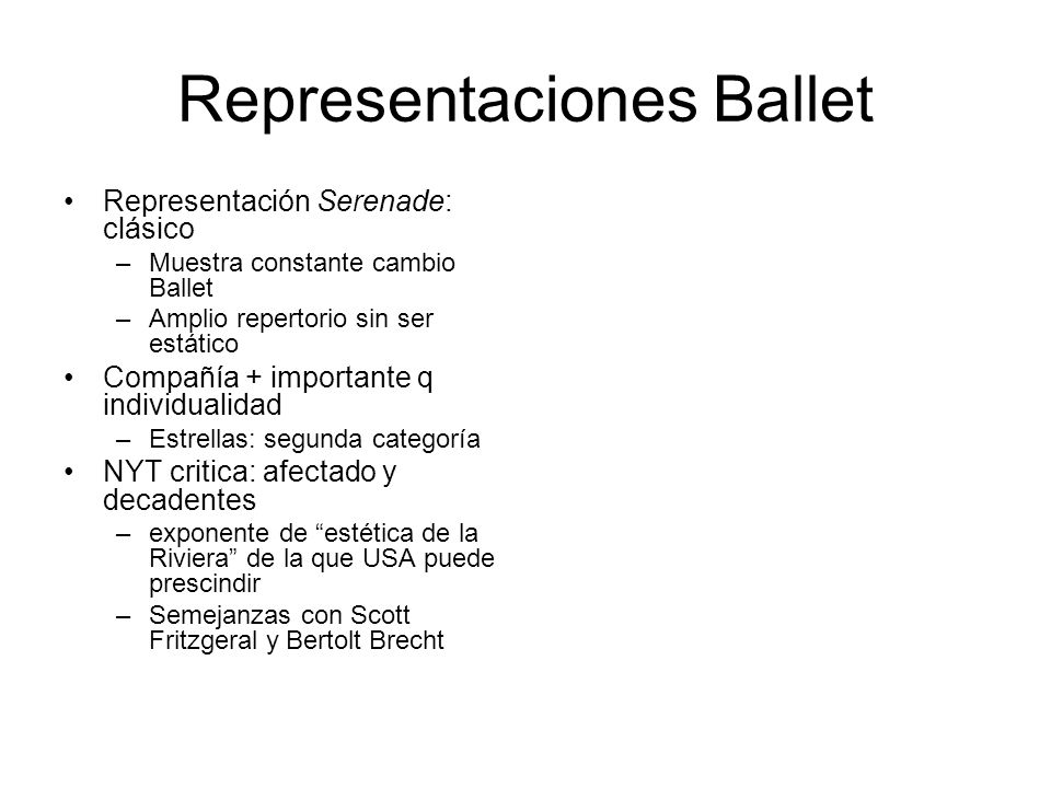 Representaciones Ballet