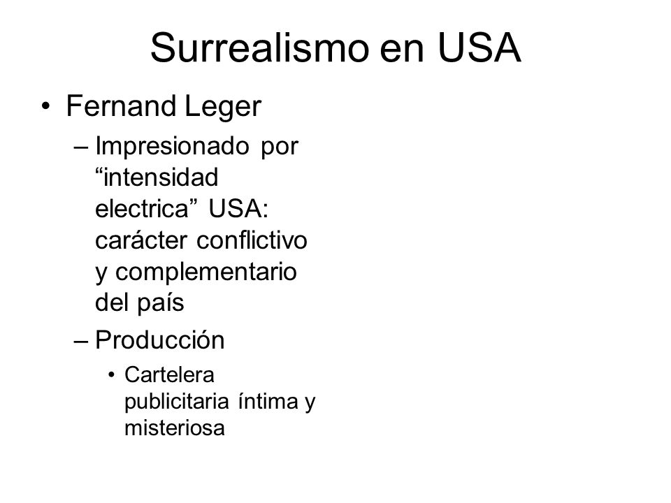 Surrealismo en USA Fernand Leger