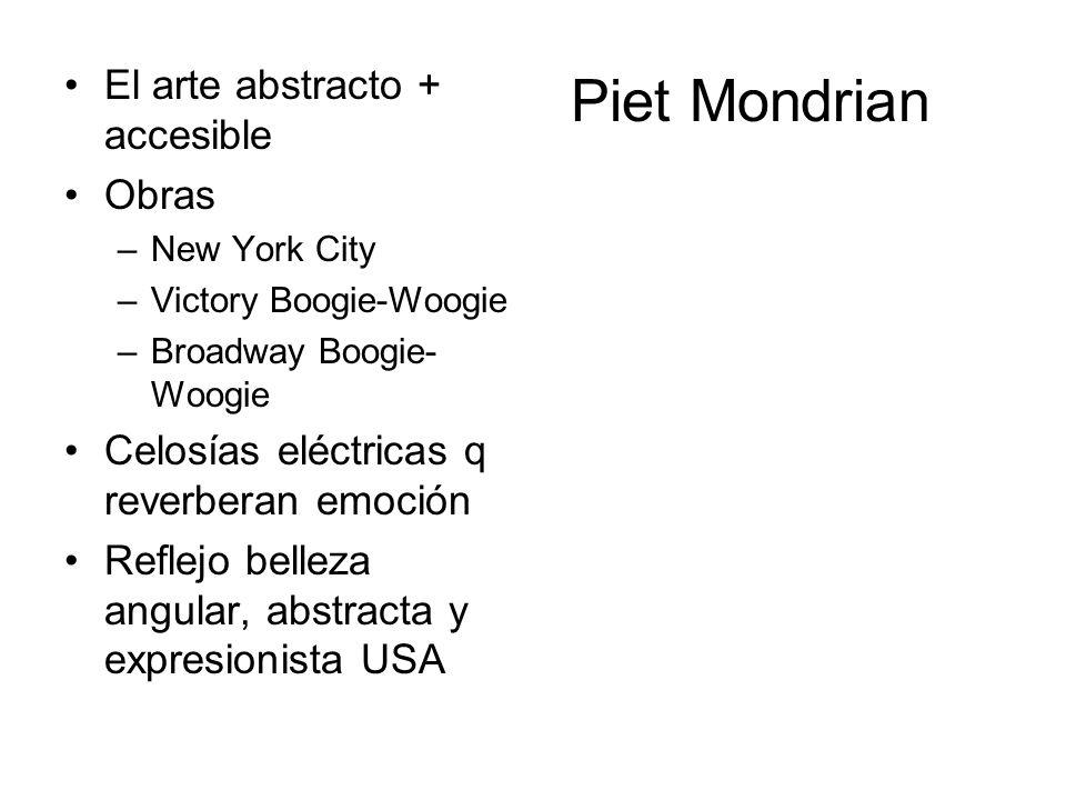 Piet Mondrian El arte abstracto + accesible Obras